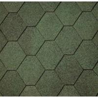 Бітумна самоклеюча черепиця IKO SUPERGLASS HEX Amazon Green (03)
