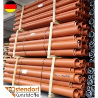Труба з розтрубом зовнішньої каналізації Ostendorf (KGEM) L=3000 d 160 (арт.222030)