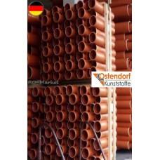 Труба з розтрубом зовнішньої каналізації Ostendorf (KGEM) L=500 d 110 (арт.200000)