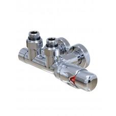 Комплект кранів з термоголовкою (підкл.50 см), G 1/2''