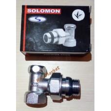 Кран радіаторний кутовий нижній SOLOMON NEW 1/2'' під ключ Арт. 160405