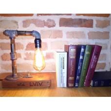 """Ретро лампа """"old Lviv"""" в стилі Лофт з лампою Едісона"""