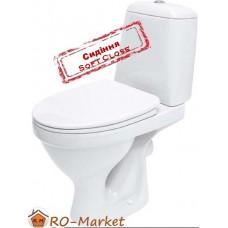 Унітаз Cersanit ЕКО Е011 3/6 л. з дюропластовим повільнопадаючим сидінням